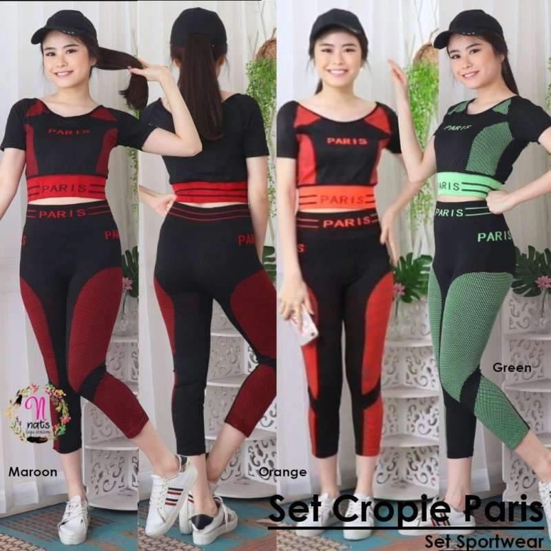 Jual Setelan Cropie Olahraga Baju Senam Gym Zumba Aerobic Fitness Celana Legging Online Oktober 2020 Blibli Com