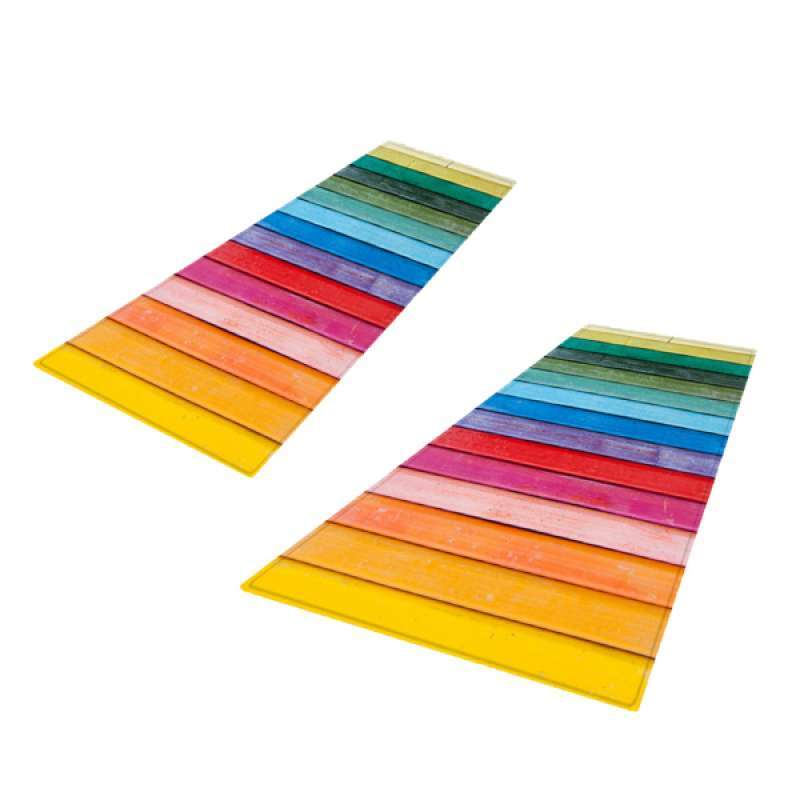Jual 2pcs Rustic Color Strip Carpet