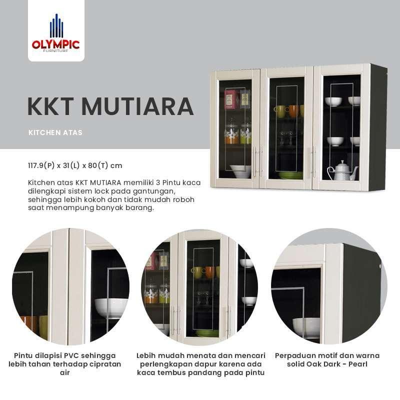 Jual Olympic Kitchen Set 3 Pintu Rak Dapur Kabinet Atas Kkt010880i Online Januari 2021 Blibli