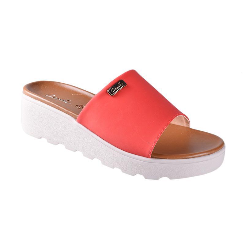 harga Carvil 01 Sienta Sandals Wedges Wanita - Red Blibli.com