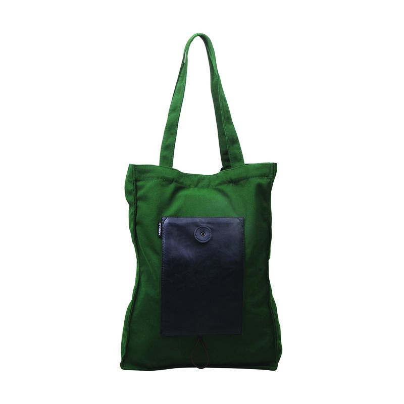Mockup BFL.15 Foldable Tote Bag  - Green Black