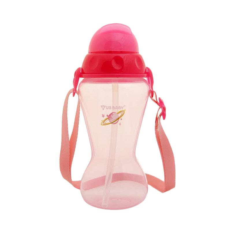 US Baby Active Straw Bottle - Pink [410 ml]