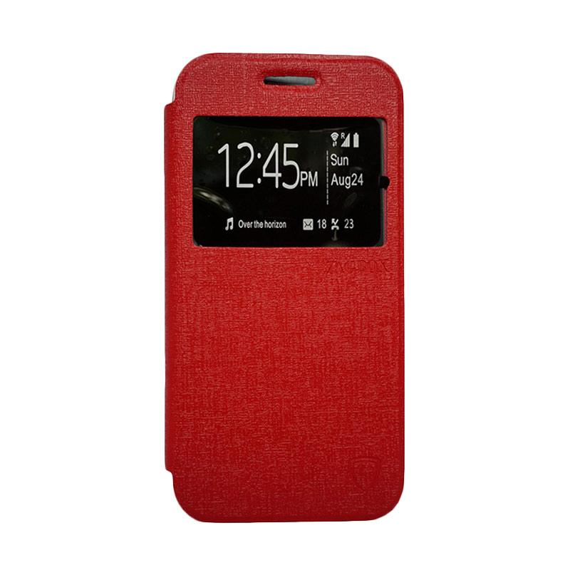 ZAGBOX Flip Cover Casing for Coolpad Star - Merah