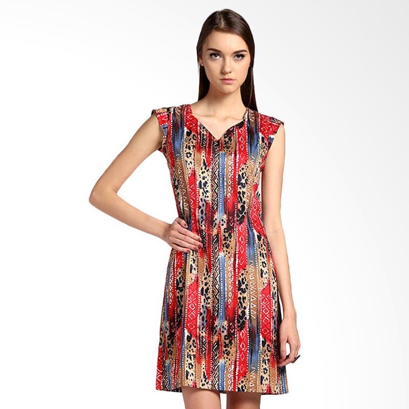 Bateeq 14-084 Sleeveless Stretch Dress - Red