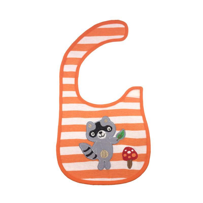 Bearhug 2 Piece Cat Racoon Bib Bayi Laki-laki