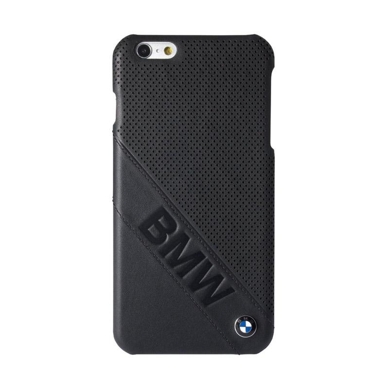 BMW Leather Debossed Logo Casing for iPhone 6 - Black