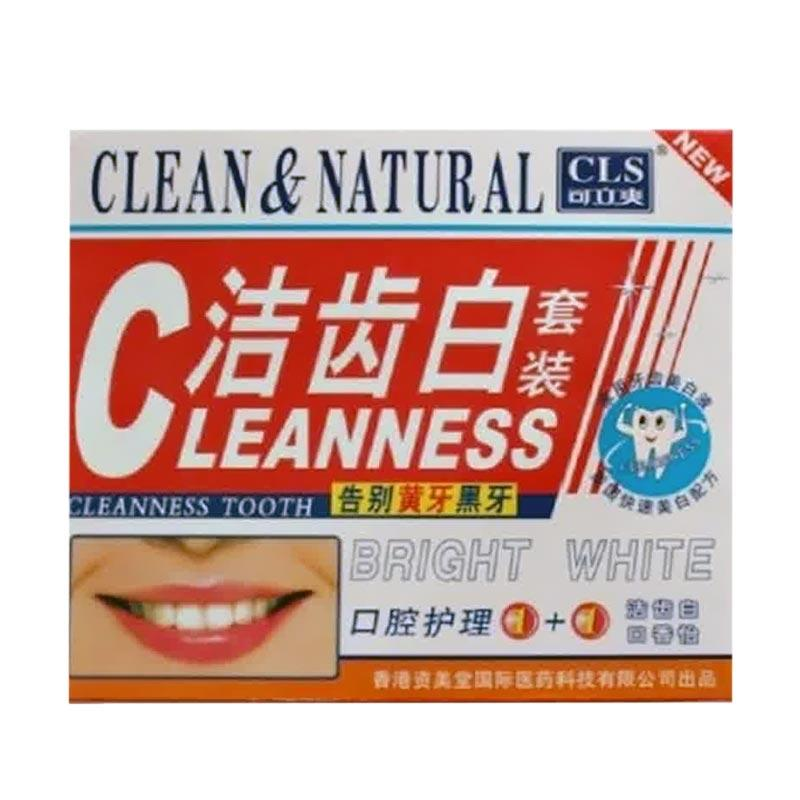 Clean & Natural Pemutih Gigi Jepang Herbal