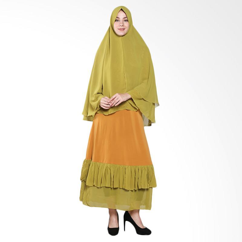 harga Naura Sifon Gamis Syari - Yellow Green Blibli.com