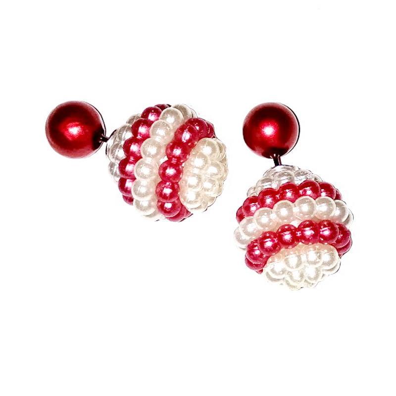 Ulasan Terbaru Anneui EE0068 Anting Candy Double Stud - Red Dan Harganya