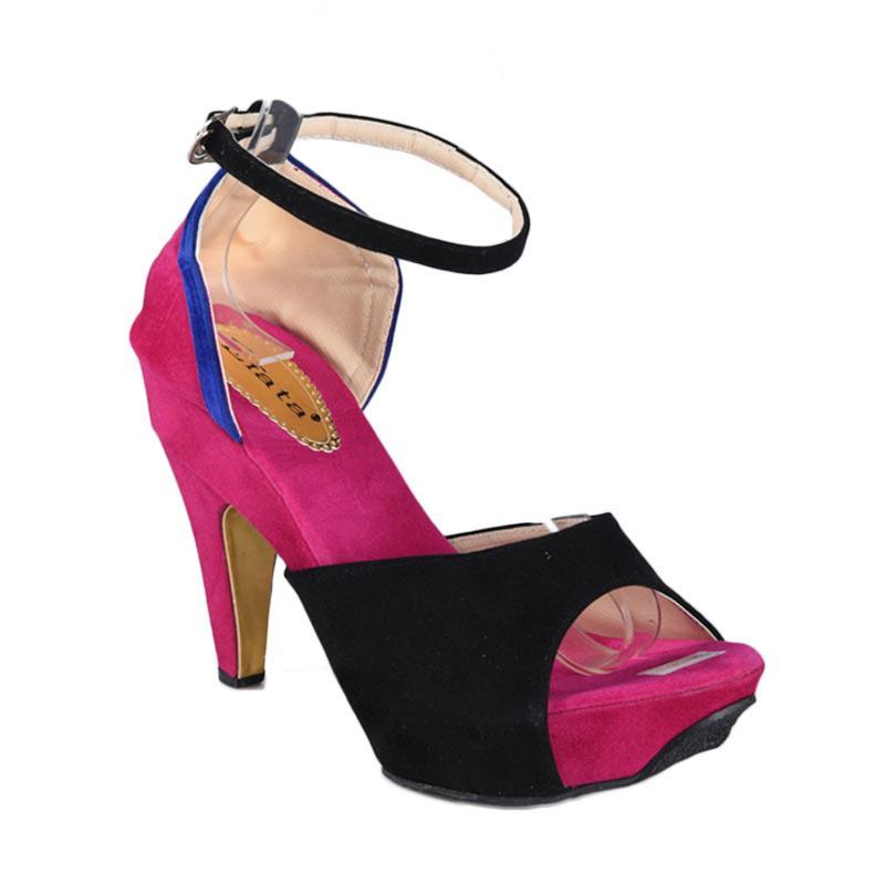 RSM Sepatu High Heels Wanita - Hitam Pink