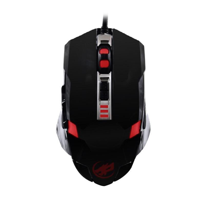 Warwolf G-5 Macro Gaming Mouse - Hitam