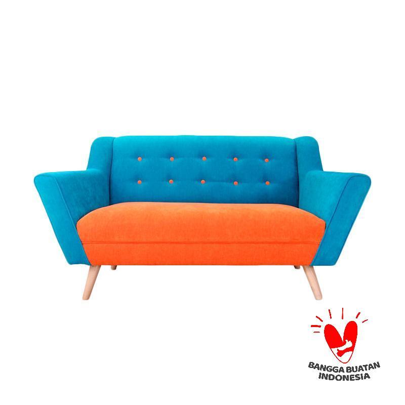 Antik Mebel Hester Sofa - Orange Blue