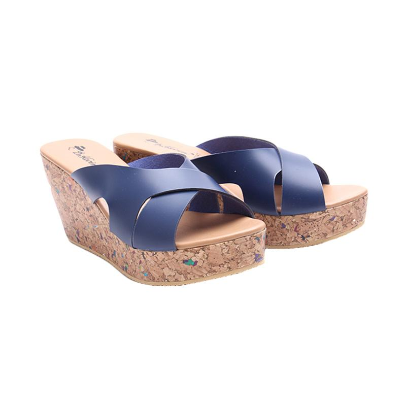 Dr.Kevin Women 27347 Wedges Sandals - Blue