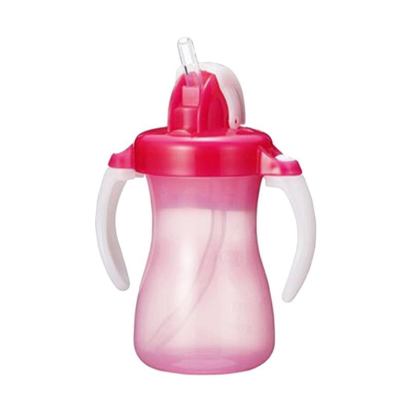 Pigeon Petite Straw Bottle - Botol Sedotan Anak Bayi Pink [150 mL]