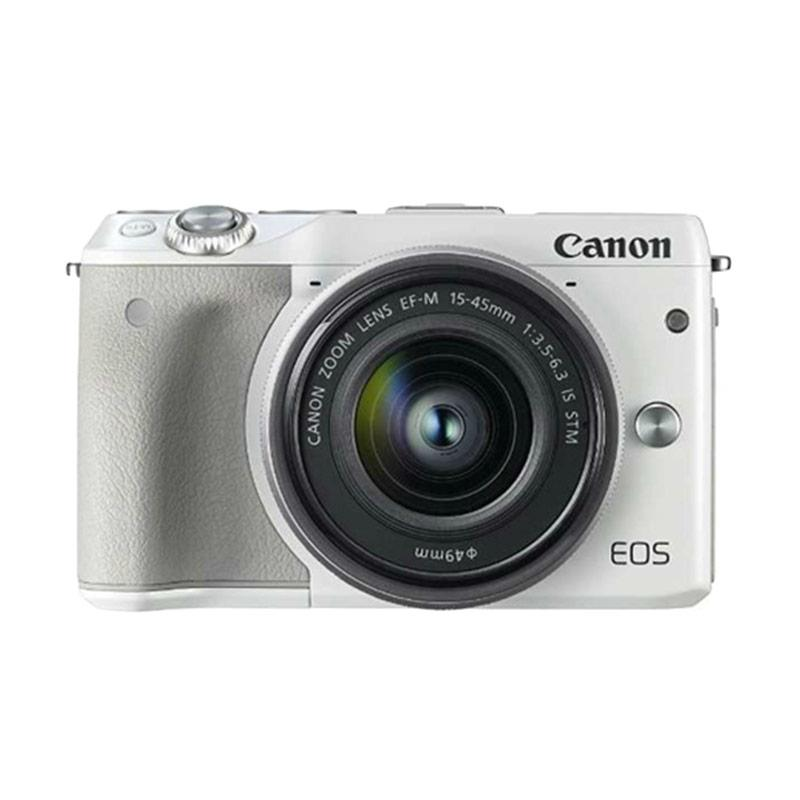 Canon EOS M3 EF-M 15-45 IS STM White Kamera Mirrorles