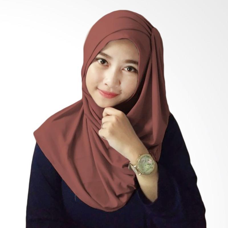 Milyarda Hijab Hana Ceruti Hijab Instan - Coklat