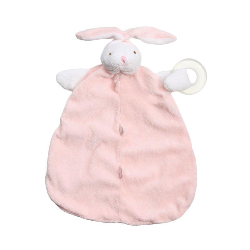 Angel Dear Teether Blankie Selimt Bayi - Pink Bunny