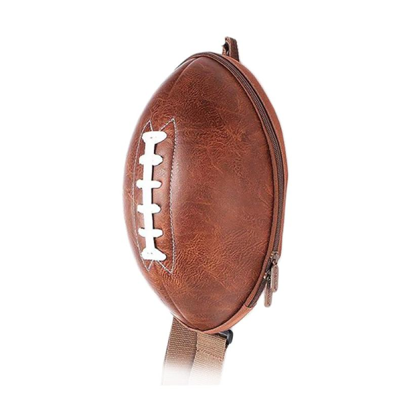 J&J Kids American Football Backpack - Brown