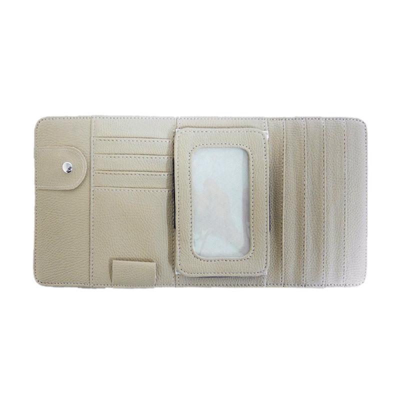 SIV Sunvisor Pocket Organizer - Cream