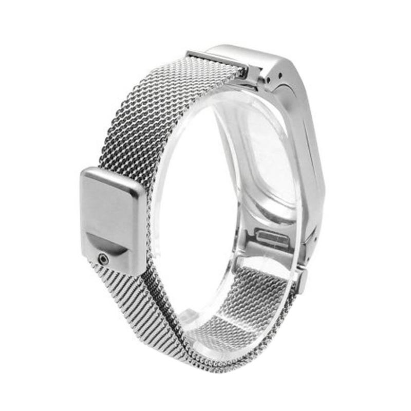 LOLLYPOP Milanese Braclet for Xiaomi Mi Band 2 - Silver