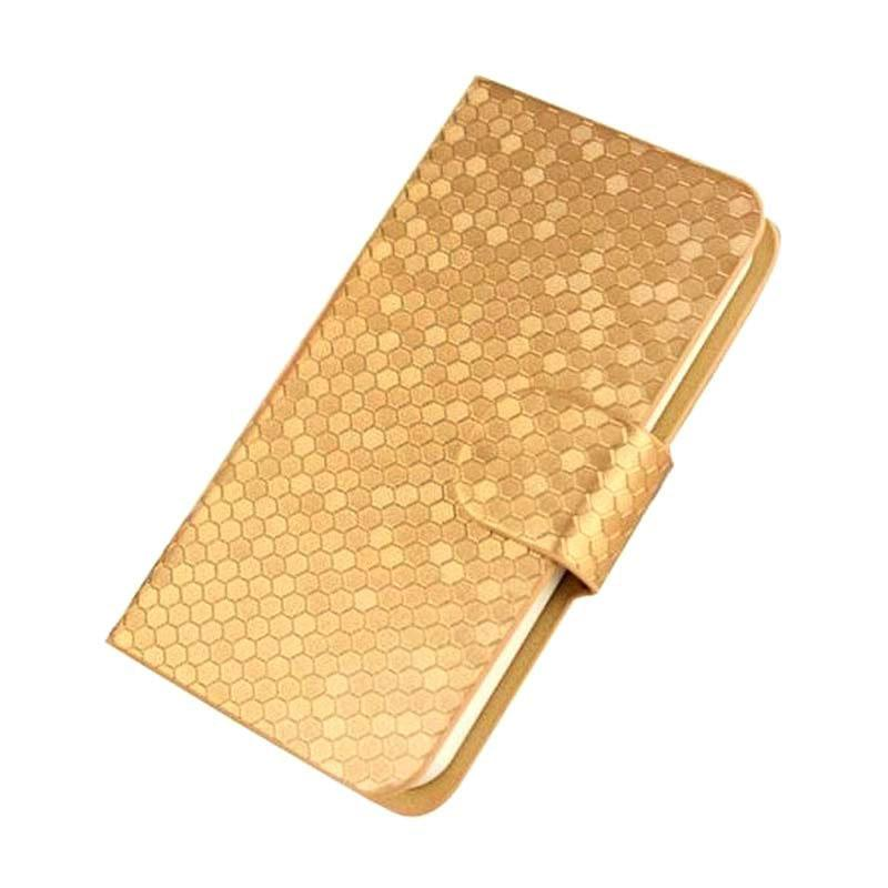OEM Glitz Cover Casing for ZTE Blade D6 - Gold