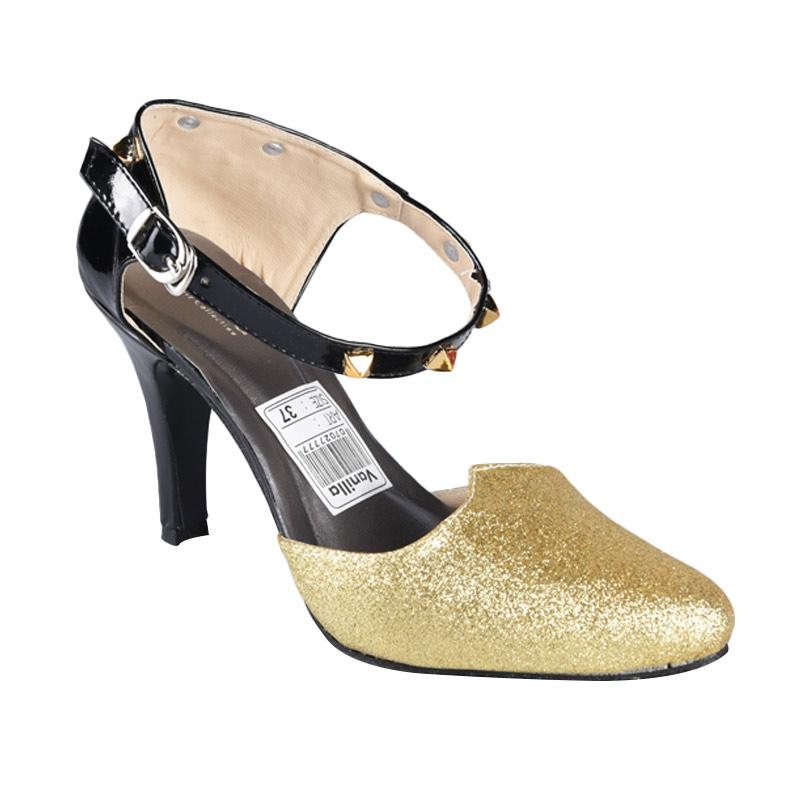 Vanilla SN-243 High Heels Wanita - Black Gold