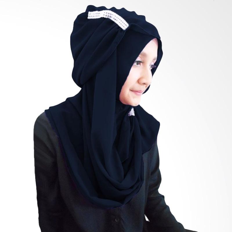Milyarda Ring Hijab - Biru Dongker
