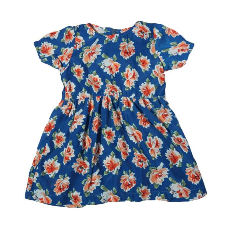 Adel & Audrey Flower 126 Dress Anak - Blue