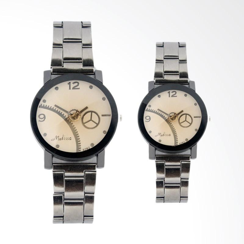 Generic FIN-169 CP Jam Tangan Couple - Brown