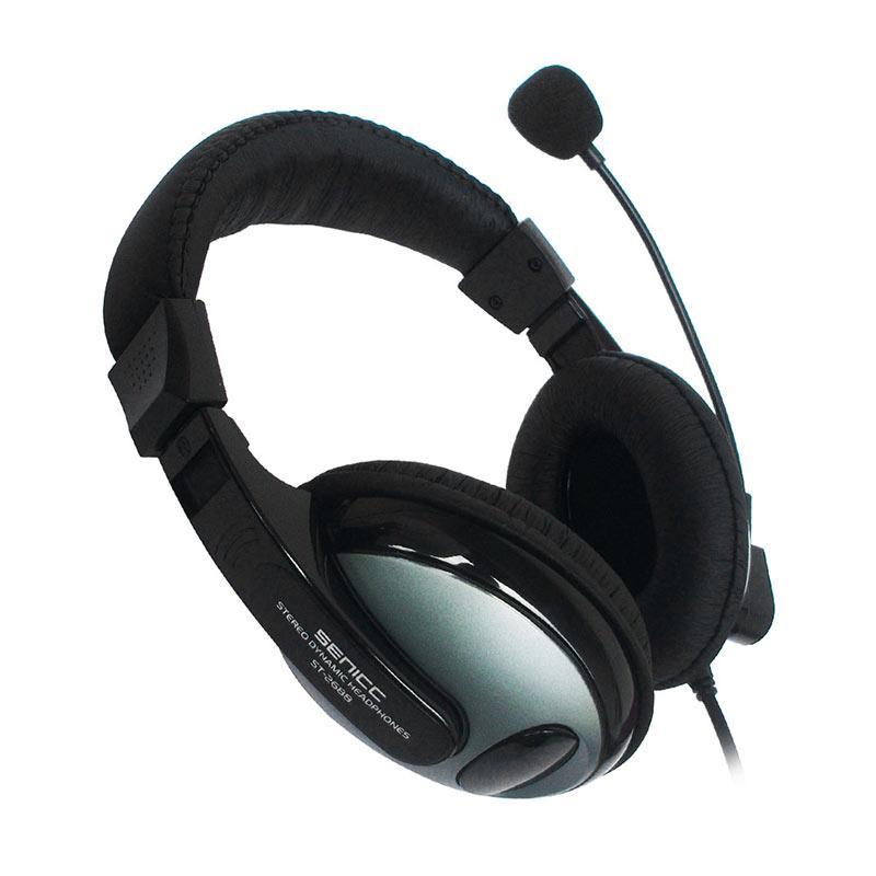 Senicc ST-2688 Multimedia Headset - Hitam Abu