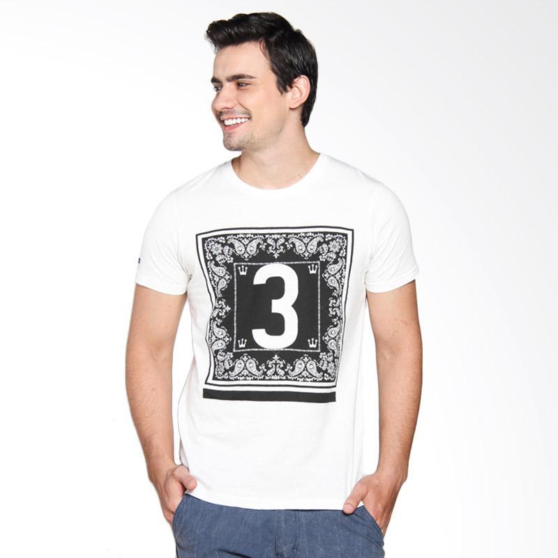 3 Second 136121612 Men Tshirt - Cream
