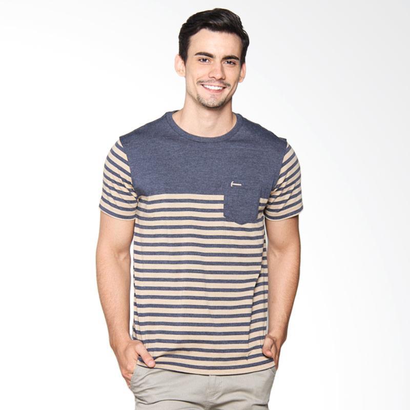 Hammer Stripe T-shirt Kaos Pria - Blue Incense D1TS144B2