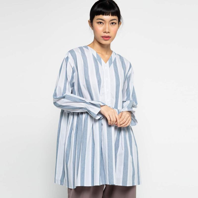Marchemode Lana BL01 Atasan Wanita Navy stripes