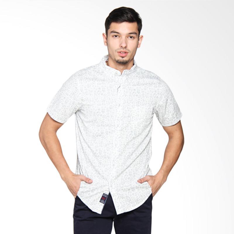 3SECOND Men Shirt Kemeja Pria - White 104051711