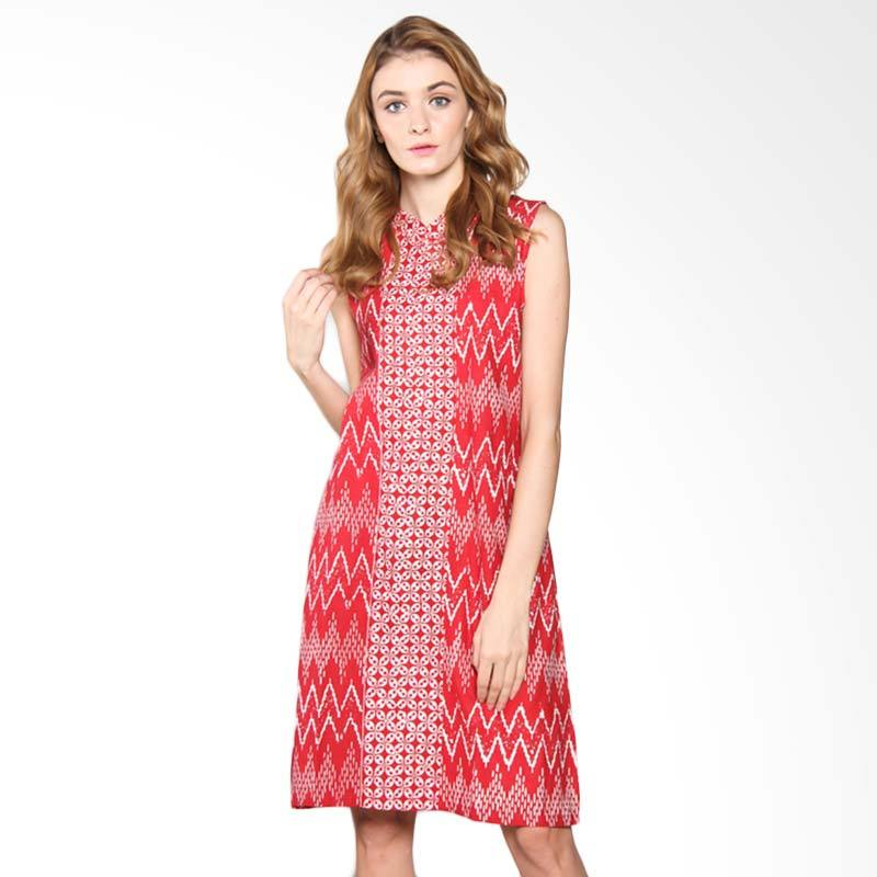 Djoemat Gembira D17-01-01 Ava Sleeveless Dress - Red