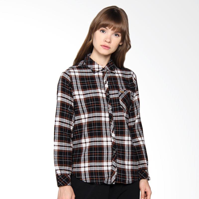 Moutley Ladies Girls Basic Street Shirt 302051721 Atasan Wanita - Black