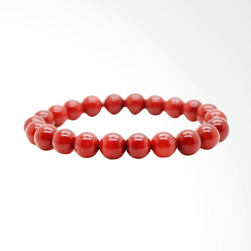 Riza Craft Marjan Merah Red Coral Asli Natural Gelang Batu Akik
