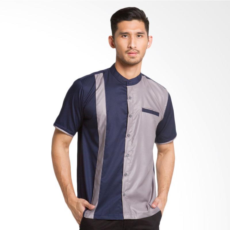 Syahir Shirt - Navy Grey