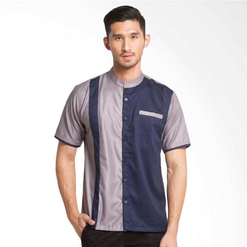 Syahir Shirt - Grey Navy