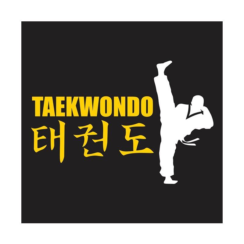 Kyle Taekwondo Axe Kick Cutting Sticker
