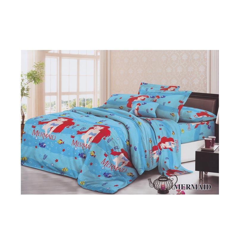 Khawla Disperse Mermaid Set Sprei dan Bed Cover