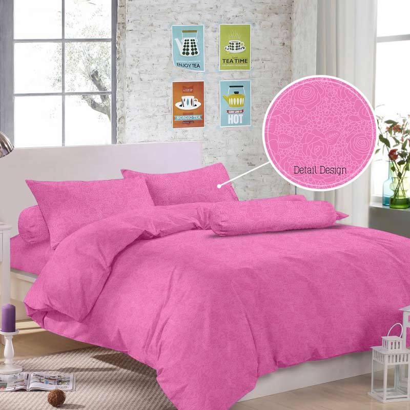 Royals T 30 Jacquard Emboss Set Sprei - Pink
