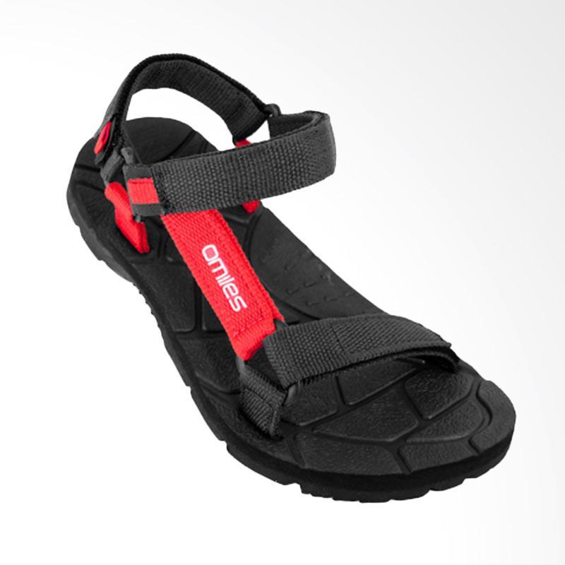 Omiles Edmund Sandal Gunung Pria - Black Red 24987148b1