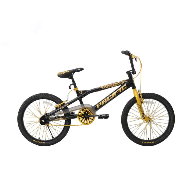 Pacific Cool Tech 3.0 Sepeda Bmx  - Black Yellow [20 Inch]