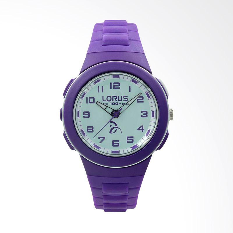 LORUS Jam Tangan Wanita - Purple White - Silicon - R2371KX9