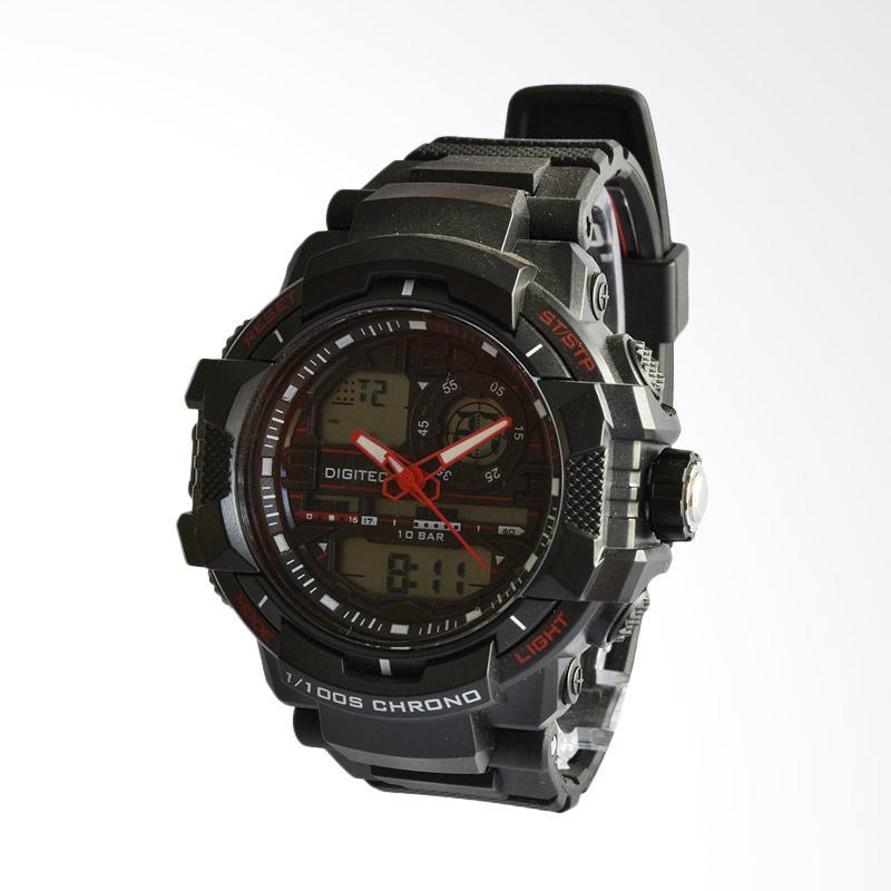 Digitec Jam Tangan Pria - Hitam Merah DG3021BRD