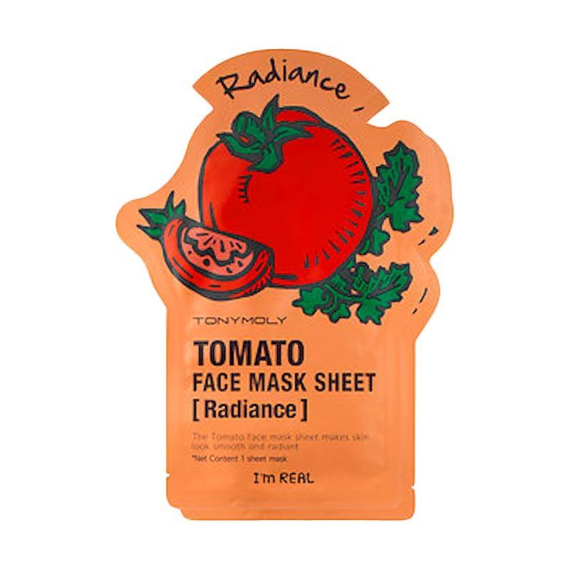 Tony Moly I`m Real Tomato Mask Sheet Radiance Original Korea Masker Wajah