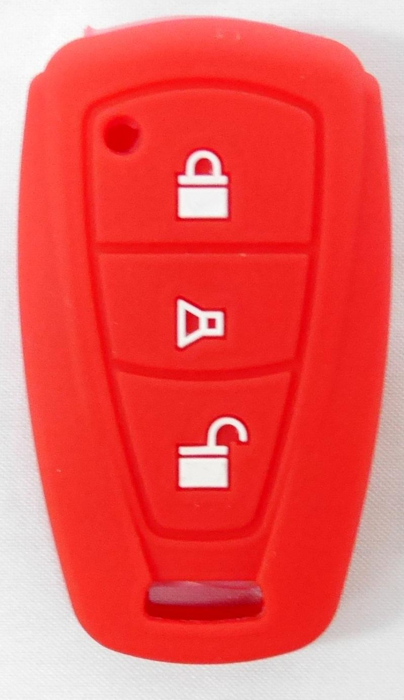 SIV A-608 Cover Key Silikon Sarung Kunci Mobil for Toyota Agya or Daihatsu Ayla - Red