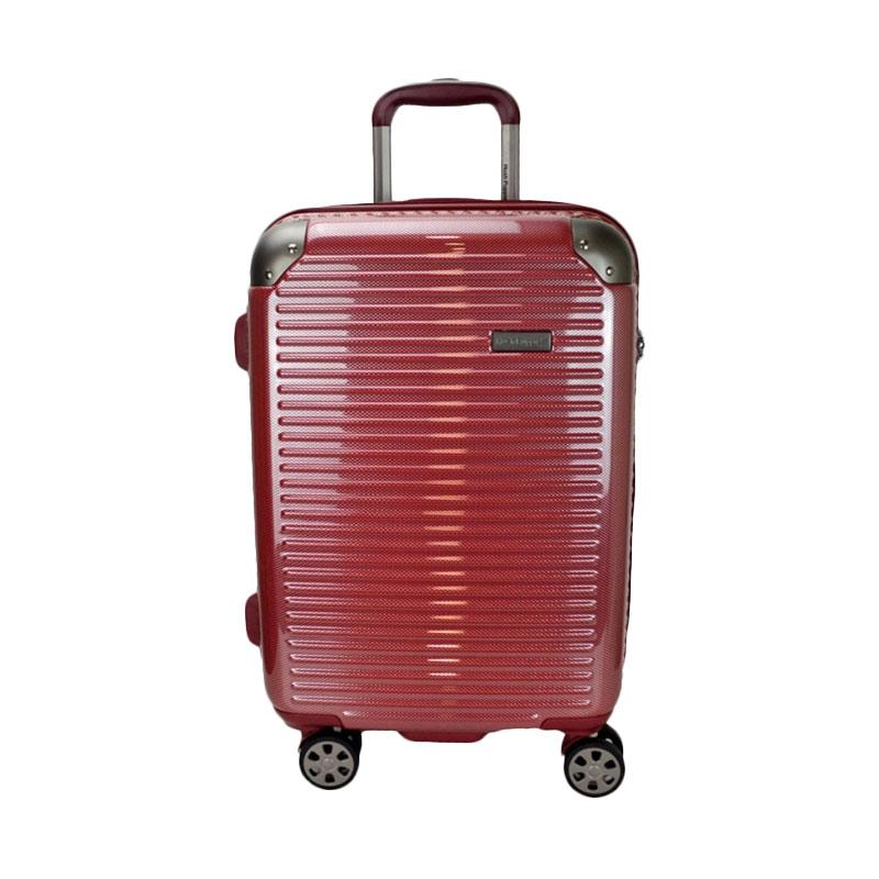 Hush Puppies 694013 Polycarbonate Hard Trolley Case Luggage Tas Koper - Red [25 Inch]