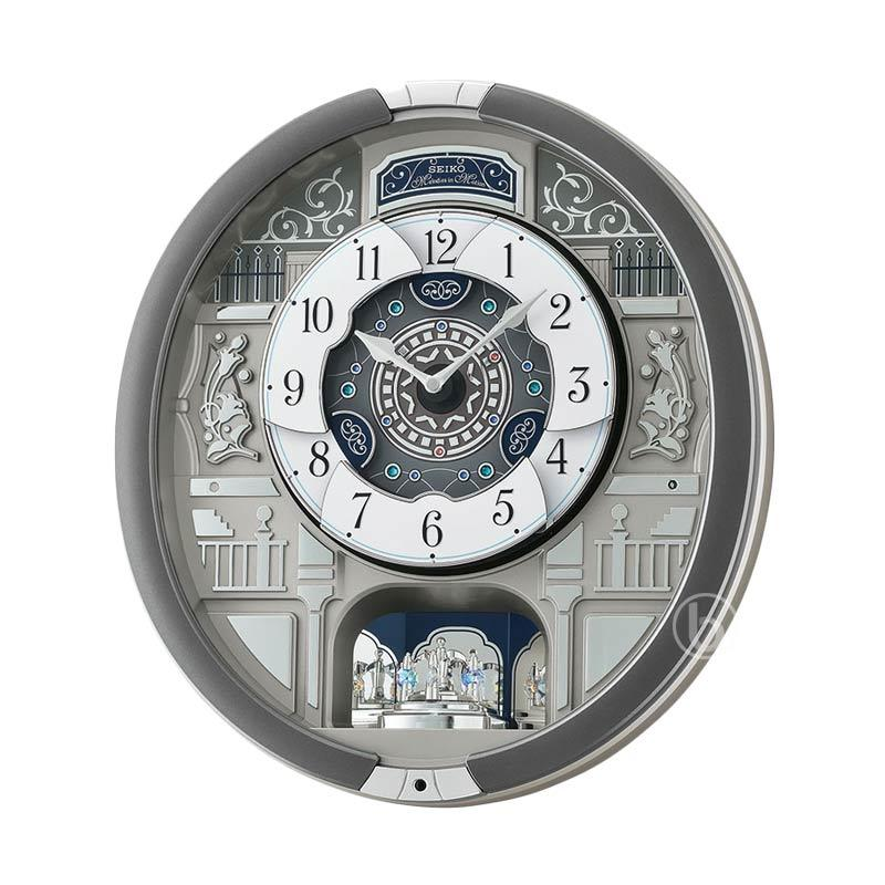 SEIKO QXM366S Melodies in Motion Musical Wall Clock Jam Dinding
